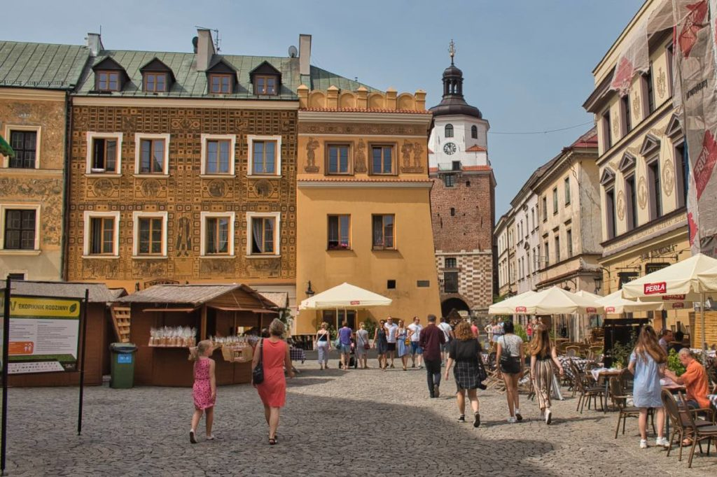 Lublin Poland sights in the old town