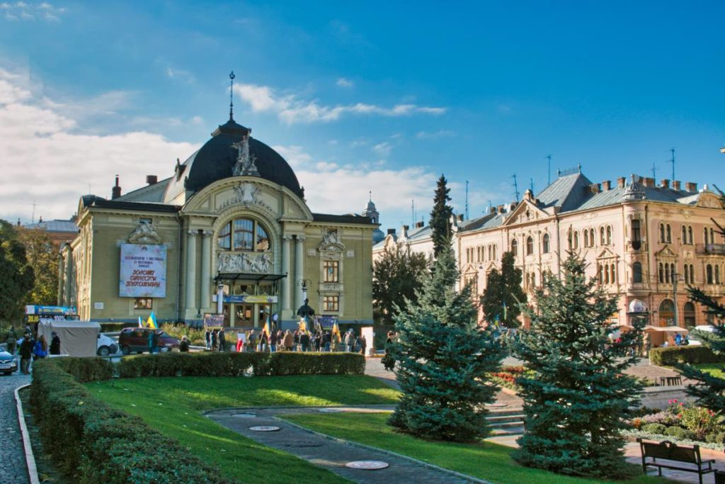 Chernivtsi things to do at Theater Square