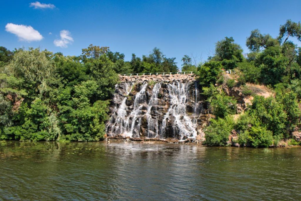 Dnipro waterfall southeast Ukraine sights