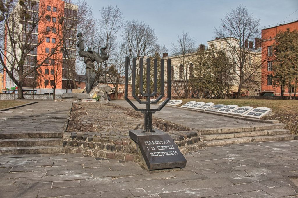 Holocaust in Lviv ghetto monument Lviv Ukraine