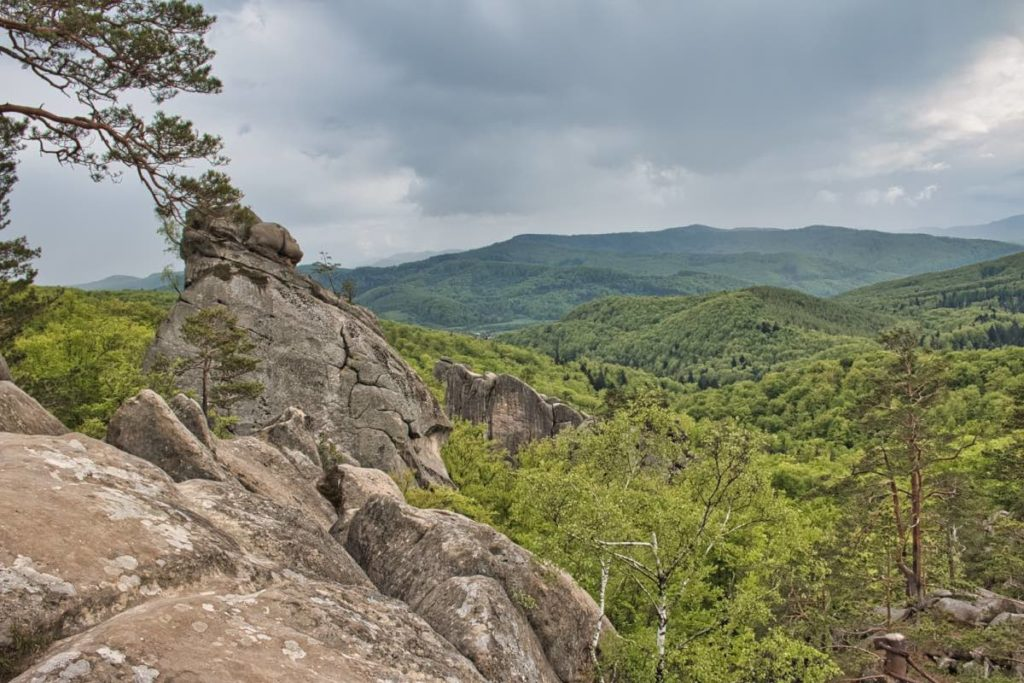 Carpathian mountains Ukraine Dovbush Rocks