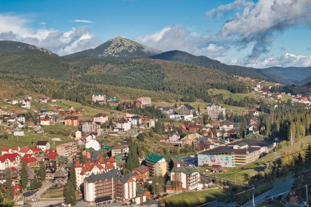 Carpathian mountains Ukraine Bukovel