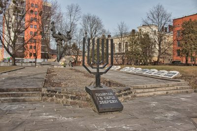 Holocaust in Lemberg Ghetto Denkmal Lviv Ukraine