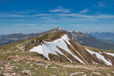 Carpathian mountains Ukraine Hoverla Petros